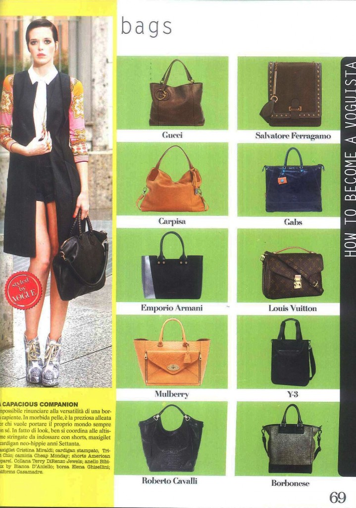 ELENA GHISELLINI VOGUE SHOPPING PG69