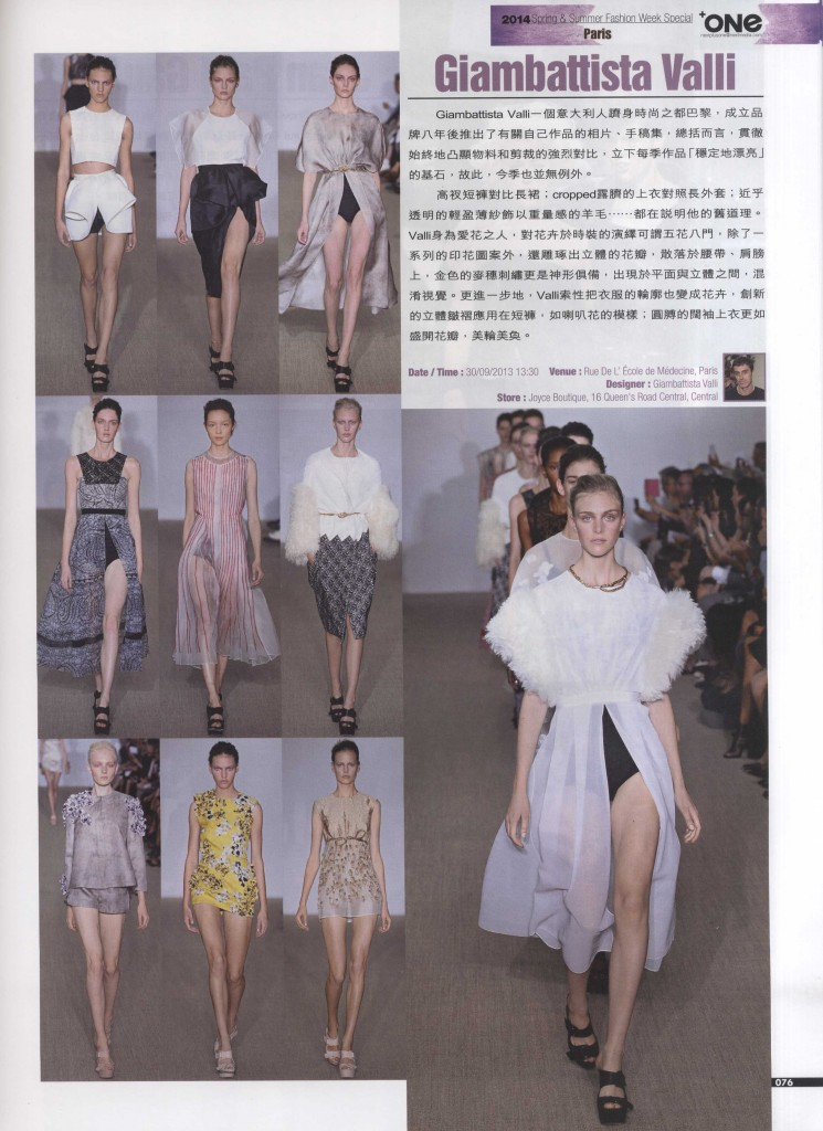 NEXT ONE HONG KONG 24 oct 13 GIAMBATTISTA VALLI  2
