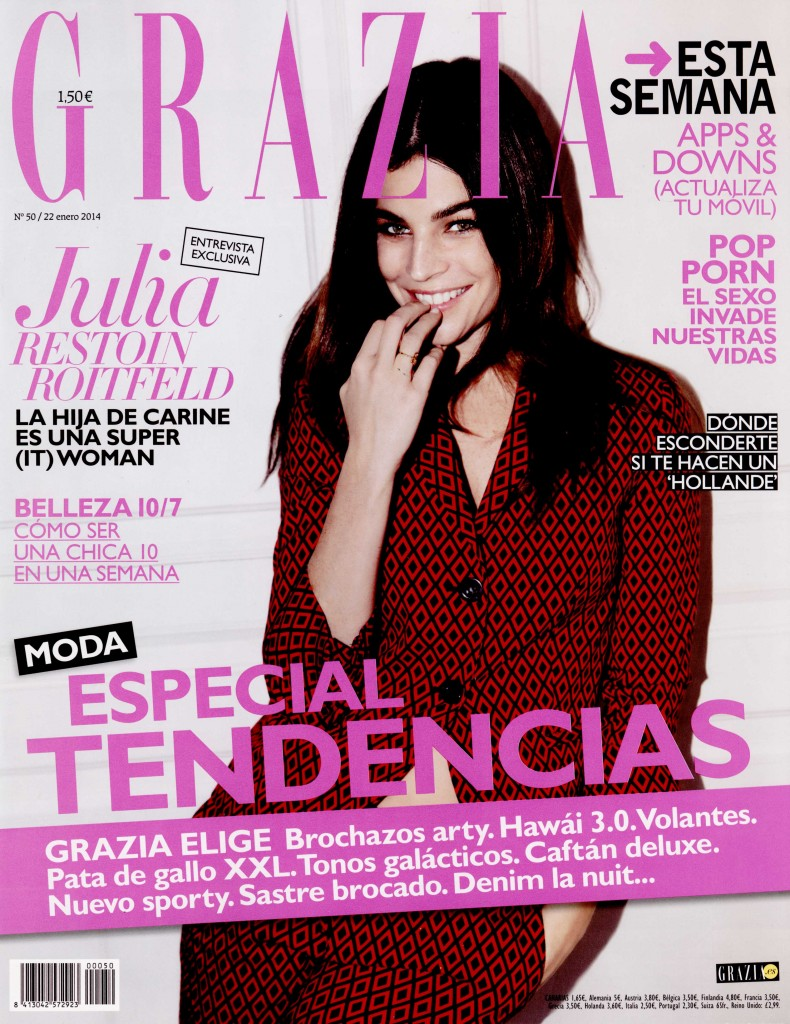 GRAZIA SPAIN 22 jan 14 GIAMBATTISTA VALLI cover