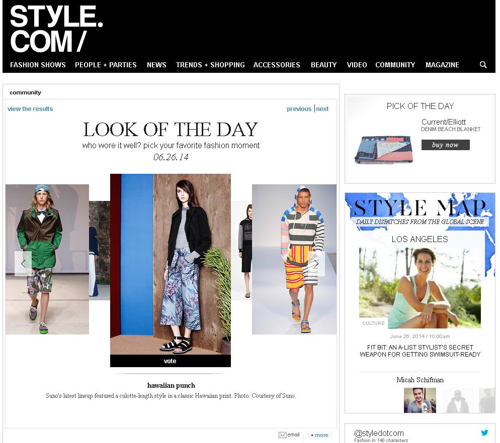 SUNO_Style.com_June 26, 2014