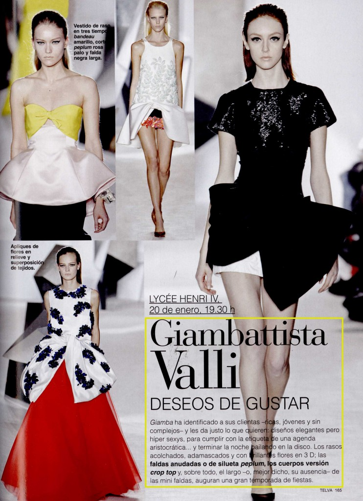 TELVA COLLECTIONS & ACCESSORIES SPAIN ss 14 GIAMBATTISTA VALLI 6