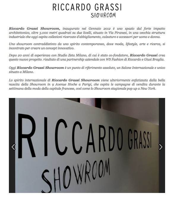 huge selection of e3b88 8c46c Riccardo Grassi Showroom on Shoppingmap.it | Riccardo Grassi ...
