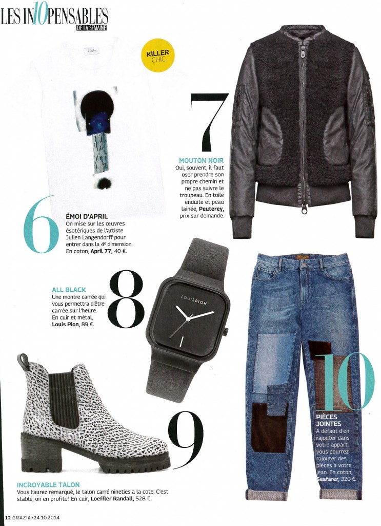 GRAZIA DATED OCTOBER 24TH-30TH 2014 Claire Cosnefroy