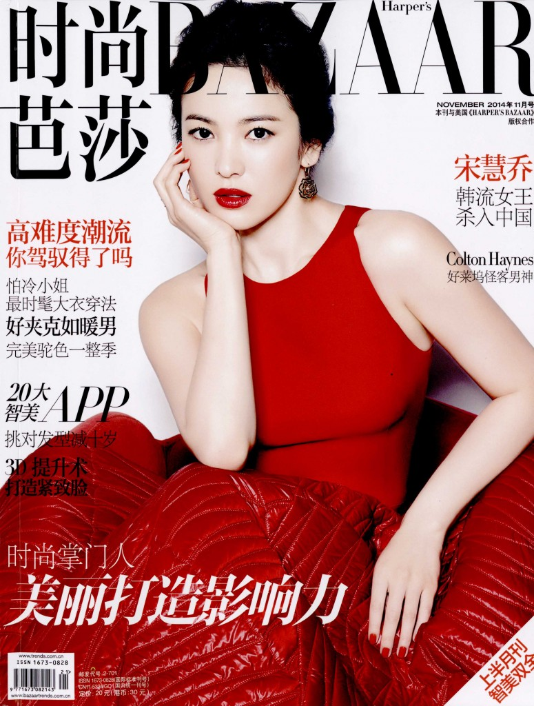 HARPER'S BAZAAR CHINA nov 14 GIAMBATTISTA VALLI cover