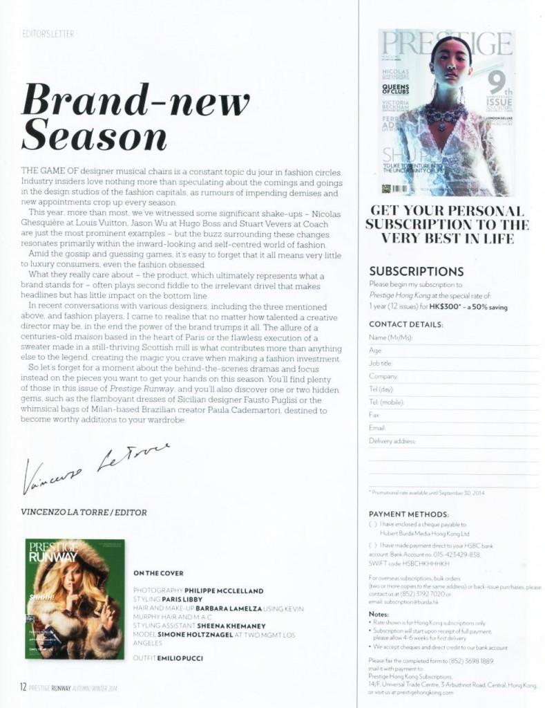 Prestige Magazine HKG - Runway 2014-9-1 pag 12