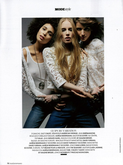 MADAME FIGARO DATED JANUARY 30TH-31ST 2015 Cécile Martin