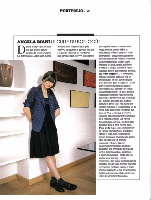 MADAME FIGARO DATED MARCH 27TH - 28TH 2015 Marion Dupuis