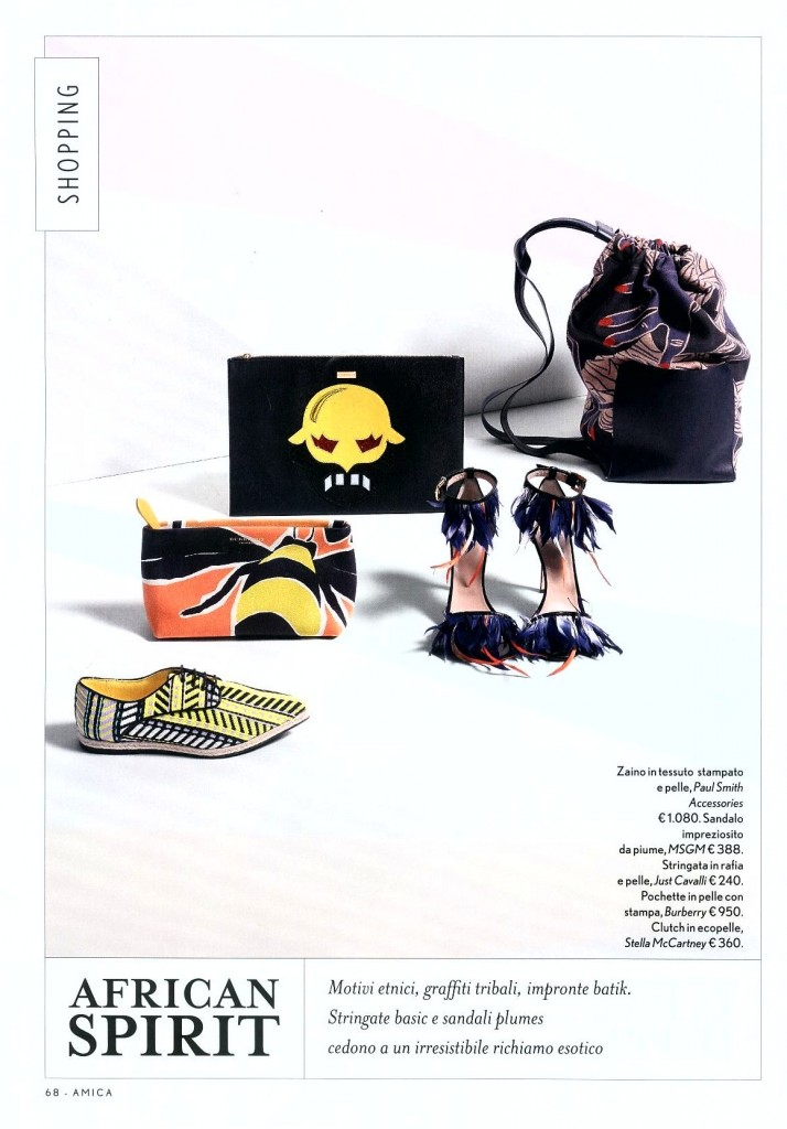 MSGM - AMICA ACCESSORIES ISSUE - SS 15