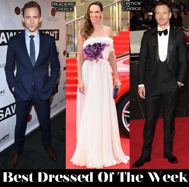 Best-Dressed-Of-The-Week-Hilary-Swank-In-Giambattista-Valli-Couture-Tom-Hiddleston-In-Polo-Ralph-Lauren-Michael-Fassbender-In-Thom-Sweeney