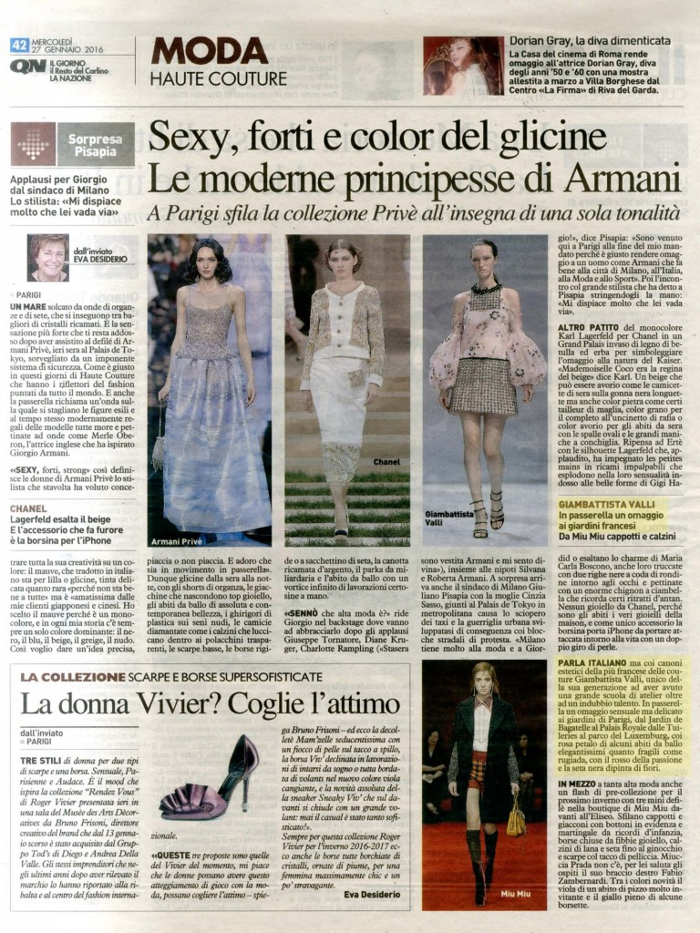 Quotidiano Nazionale 27.01.16 p.42