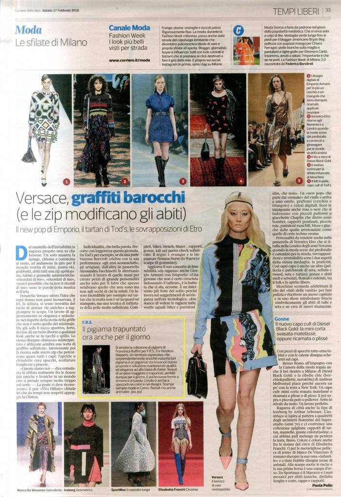 Corriere della Sera 27.02.16 p.33