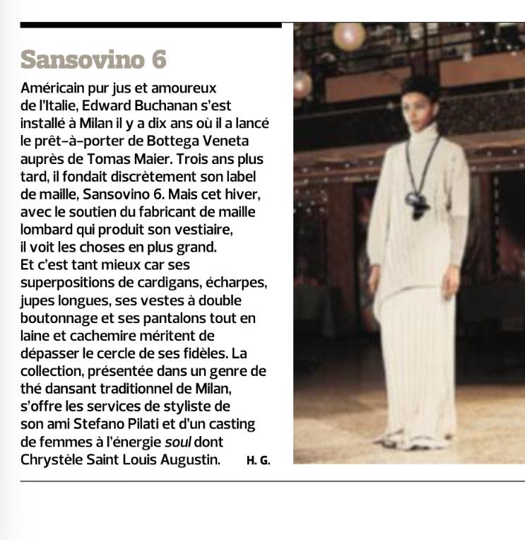 SANSOVINO 6 - LEFIGARO - 26FEB16