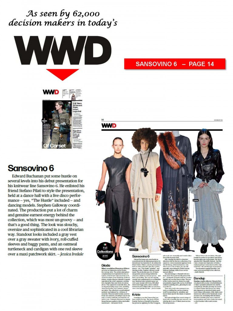SANSOVINO 6 - WWD DAILY - 26FEB16
