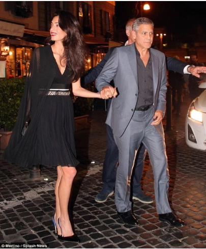 Amal Clooney wearing Giambattista Valli, June 2016 | Riccardo Grassi