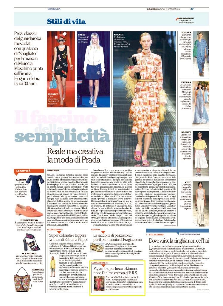 La Repubblica 23.09.16 p.37