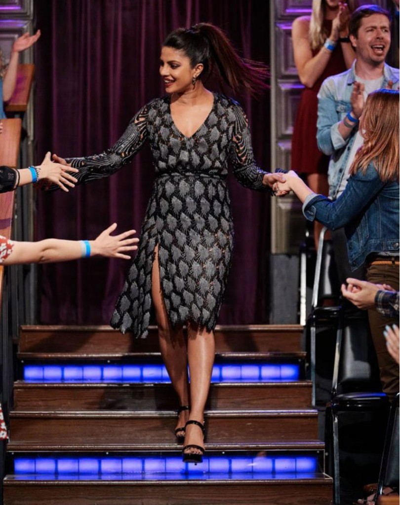 Priyanka Chopra in MdV at Late Late Show