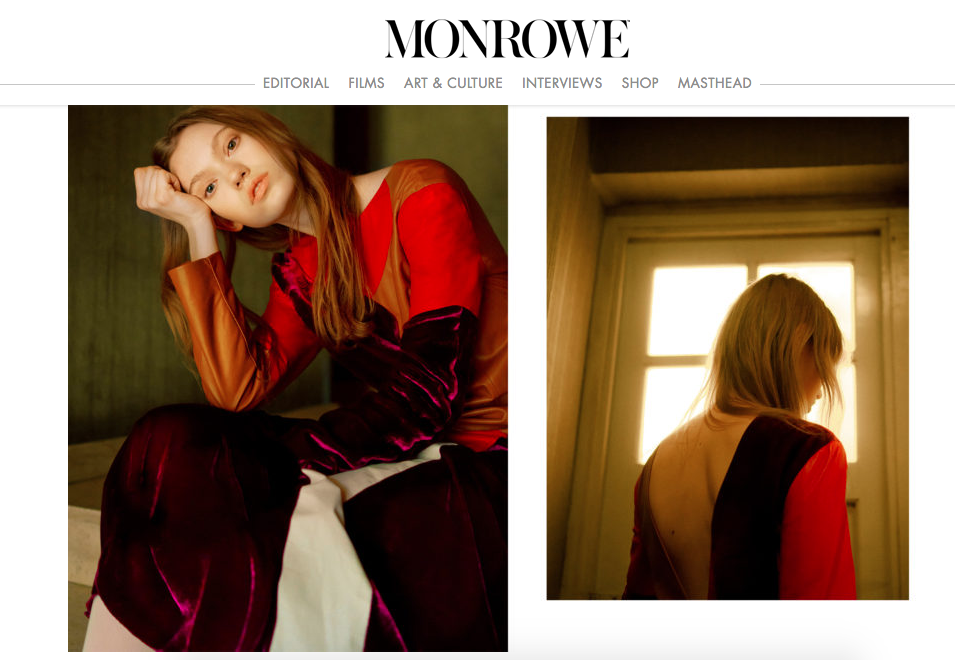 DROMe featured on MONROWE magazine nov 2017