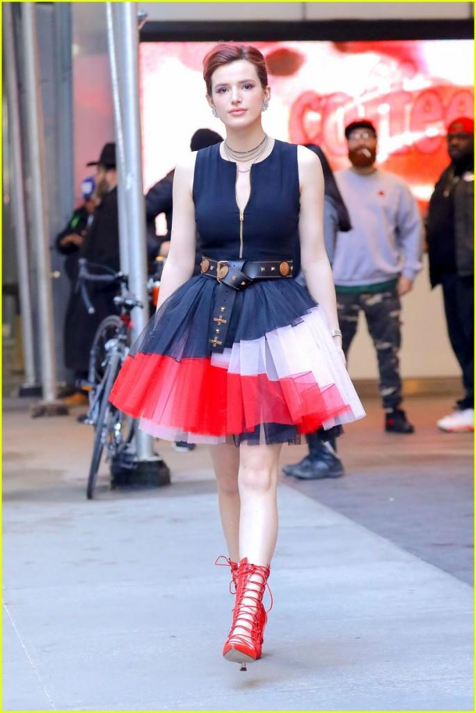 Celebrity Bella Thorne wearing Fausto Puglisi
