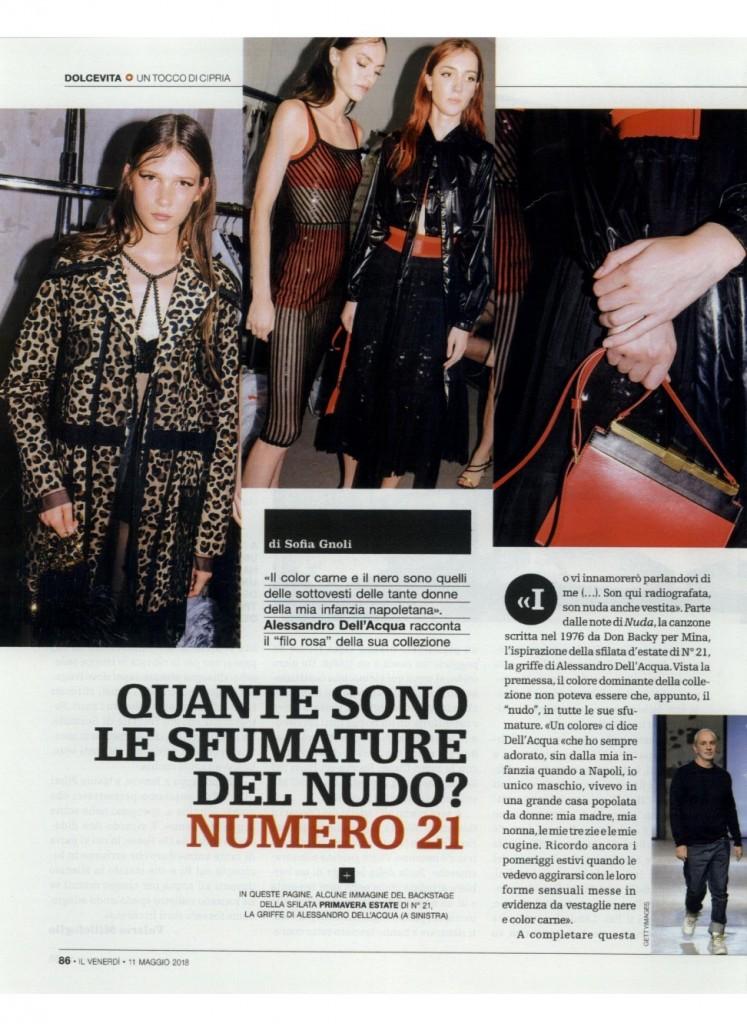 Alessandro dell'Acqua's interview in Il Venerdì di Repubblica_11.05.18_p86