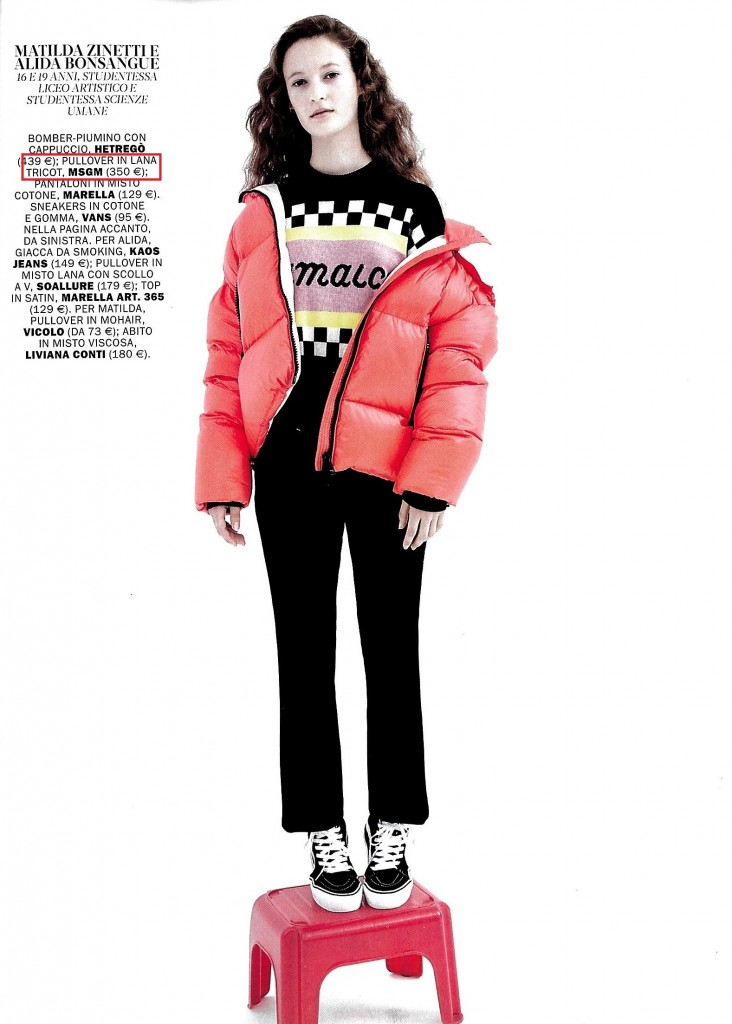 MSGM - MARIE CLAIRE - NOV18 - STYLING ALICE PIEMONTI