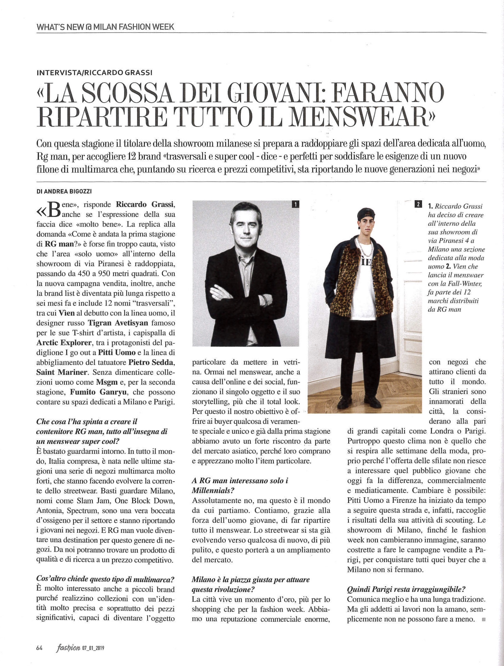 3a546f58485a Riccardo Grassi in Fashion Magazine