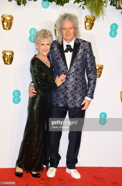 Brian May of Queen wears Yatay to the BAFTA's