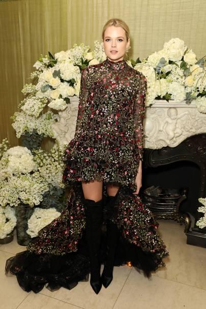Gabriella Wilde wears Giambattista Valli Ready-to-Wear