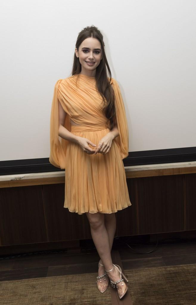 Lily Collins wears Giambattista Valli Haute Couture