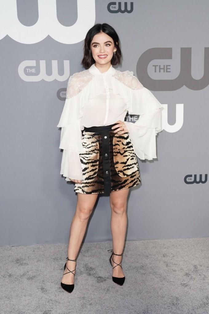 Lucy Hale wears Giambattista Valli